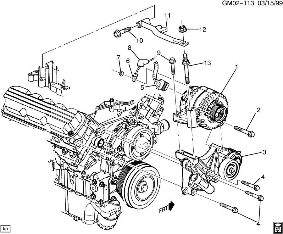 2004 Chevrolet Impala LS 4DR Generator. Engine electrical