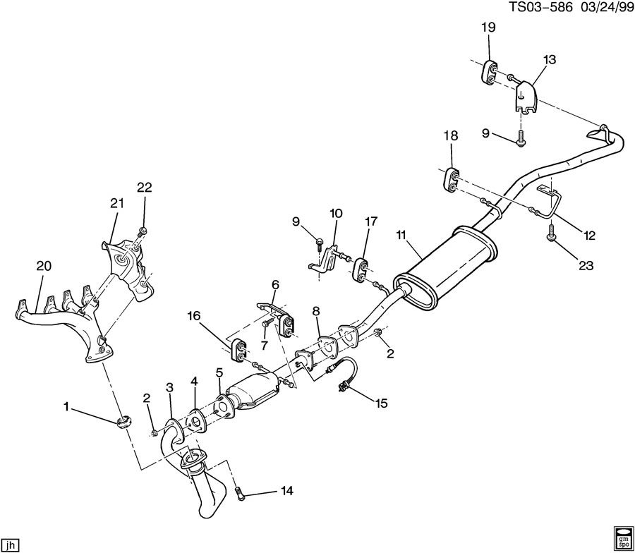 1998 Chevrolet S10 Exhaust Pipe to Manifold Gasket