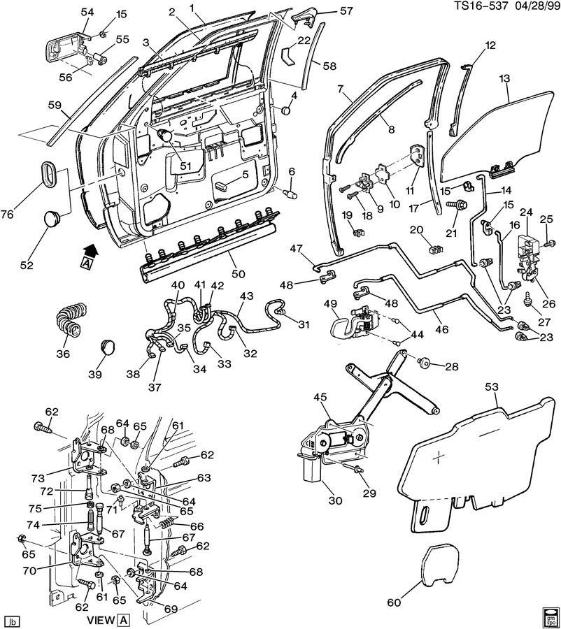 1995 Chevrolet BLAZER Regulator. Door and end gate window