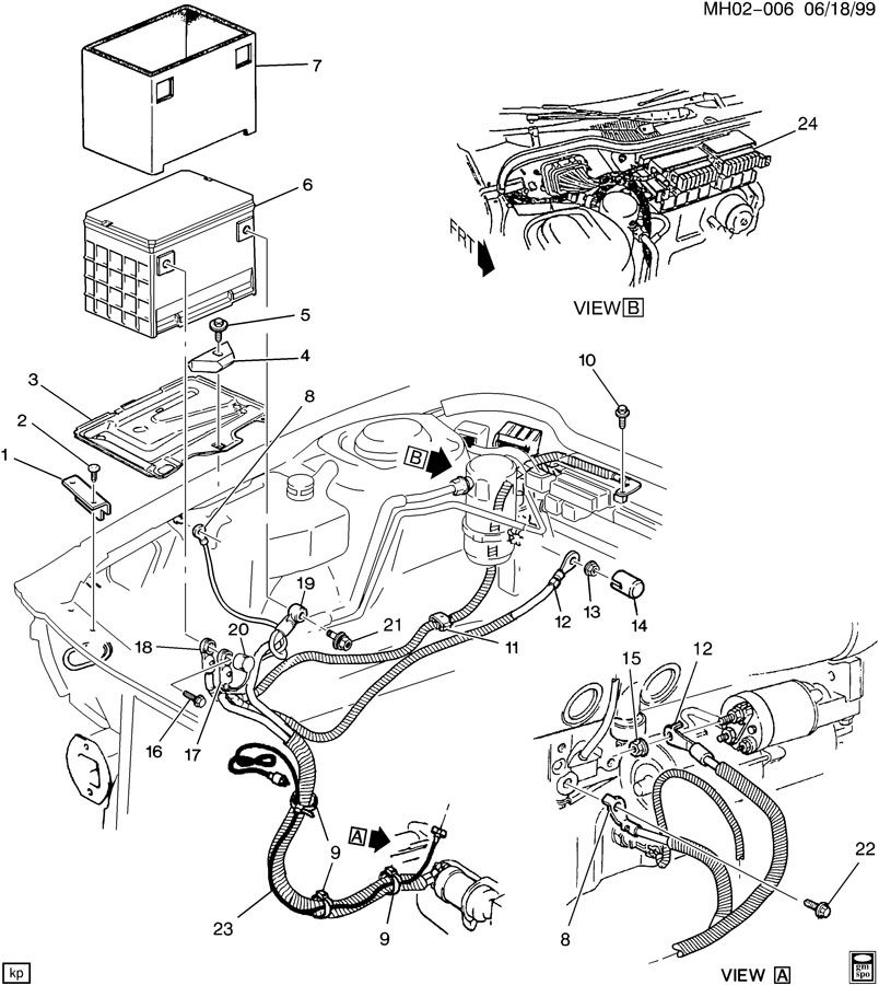Buick Lesabre Cable. Battery (positive). Cable, bat pos(02