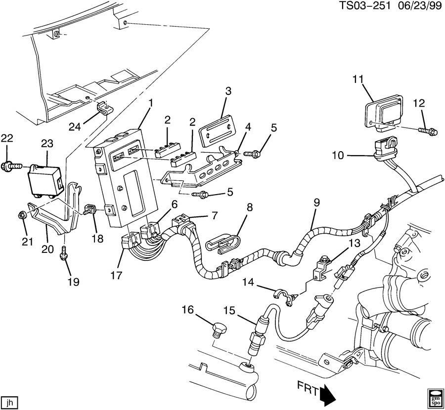 Chevrolet S10 Eprom. Emission control system. Eprom, ecm
