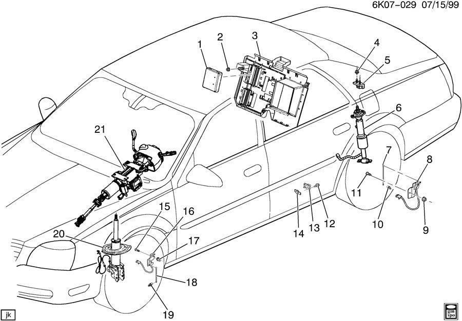 Cadillac Seville Link. Air suspension height sensor. Link