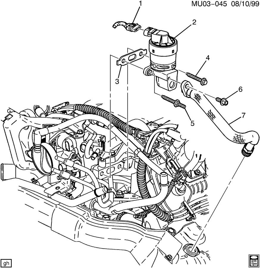 2002 Oldsmobile Silhouette E.G.R. VALVE & RELATED PARTS