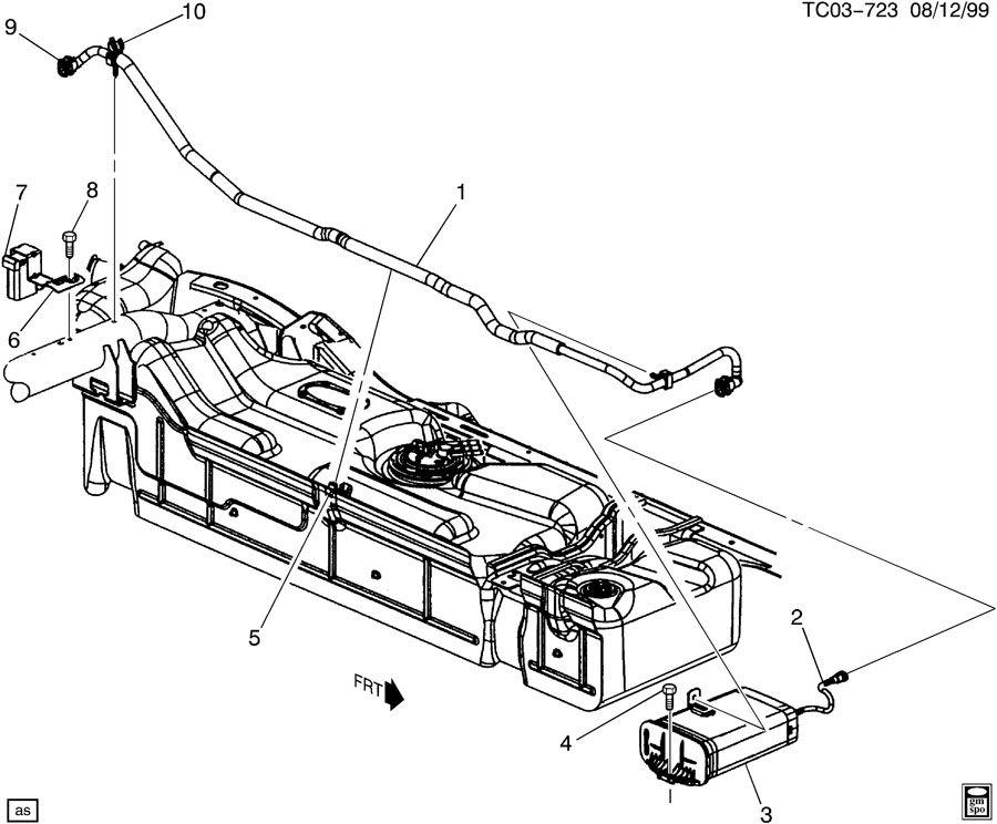 Chevrolet Silverado 2500 Valve. Fuel tank evaporator/purge