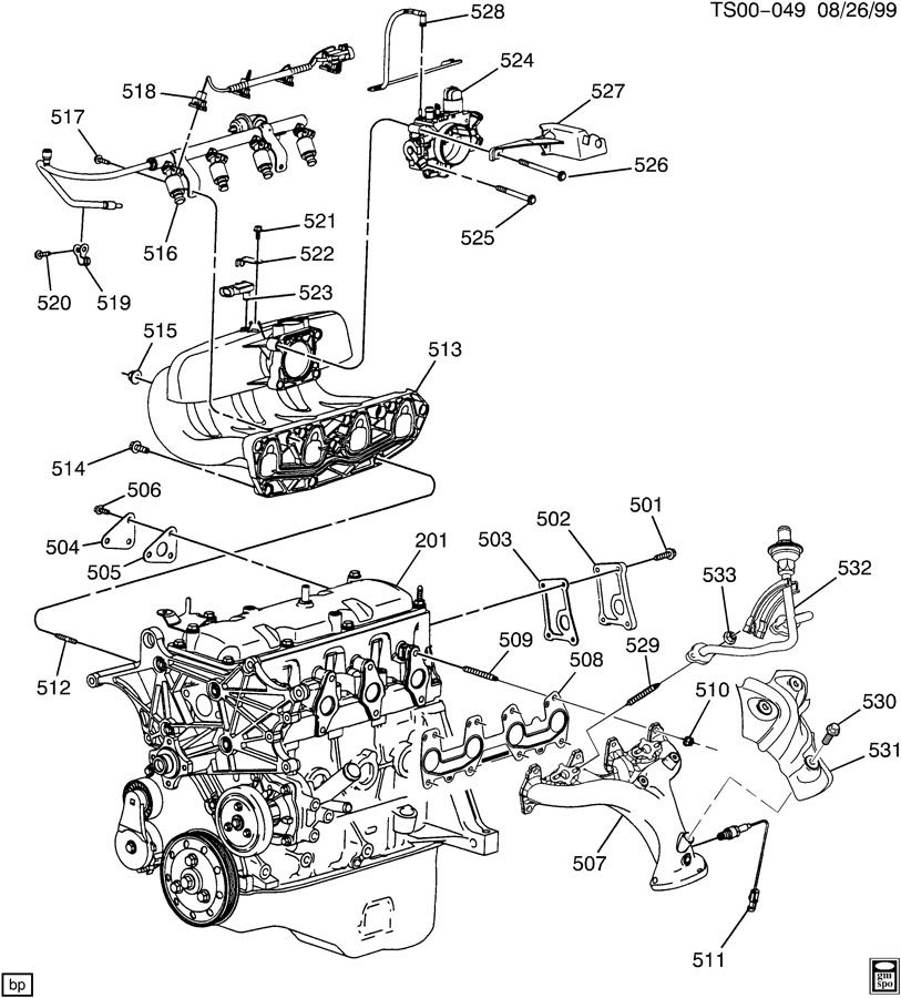Chevrolet S10 Cover. Emission control system. Coveregr