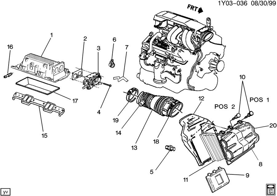 Chevrolet Corvette Valve. Heater coolant flow. Valve, htr