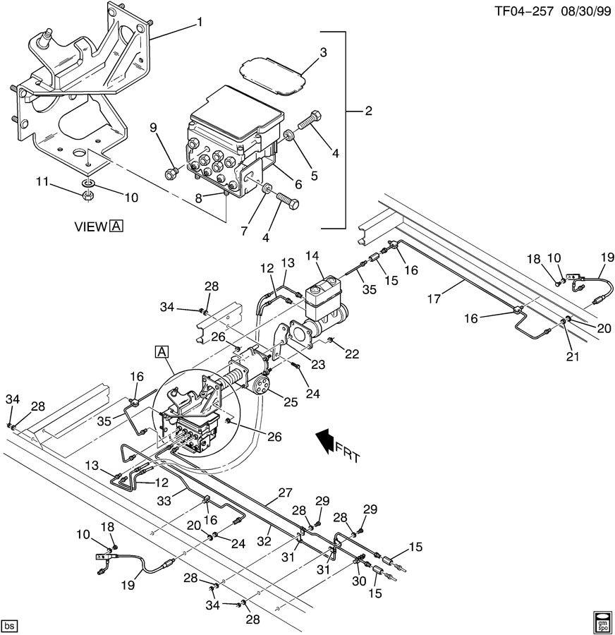 Chevrolet T7500 Module. Electronic brake control