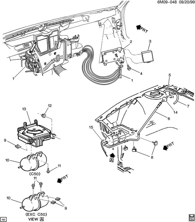 '95 Seville vacuum accessories