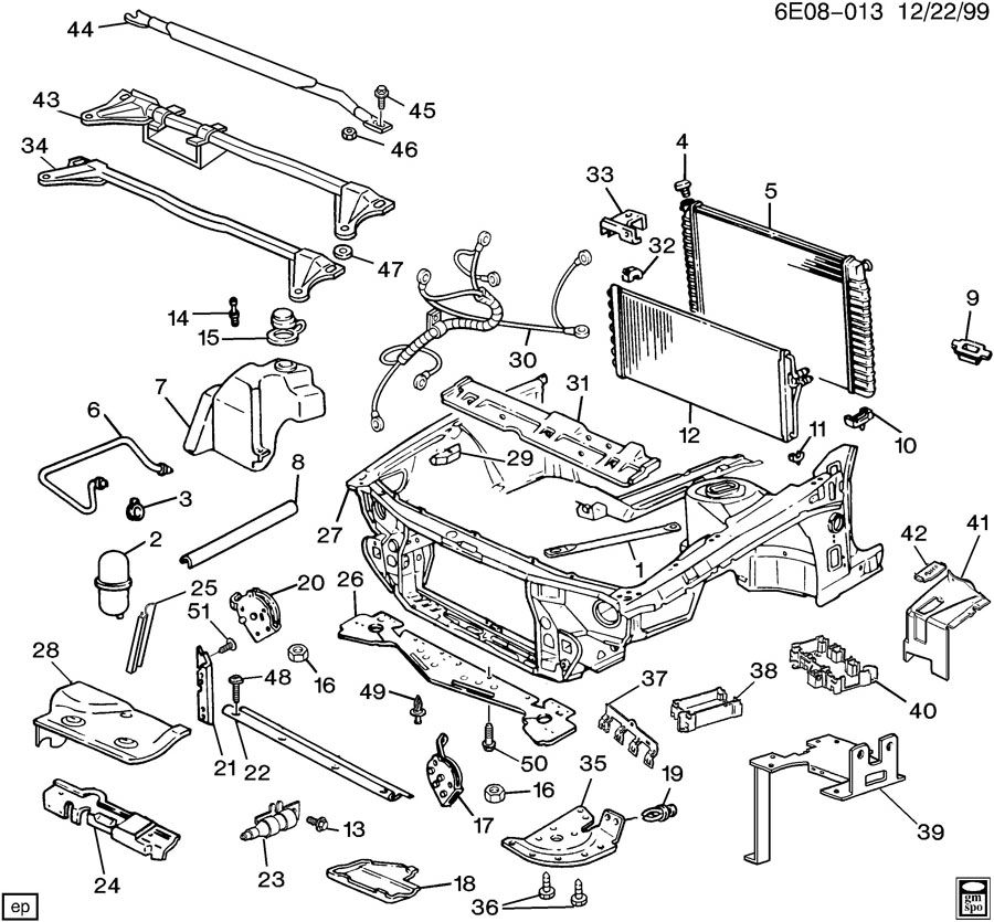1990 Chevrolet Lumina SHEET METAL/FRONT END PART 3