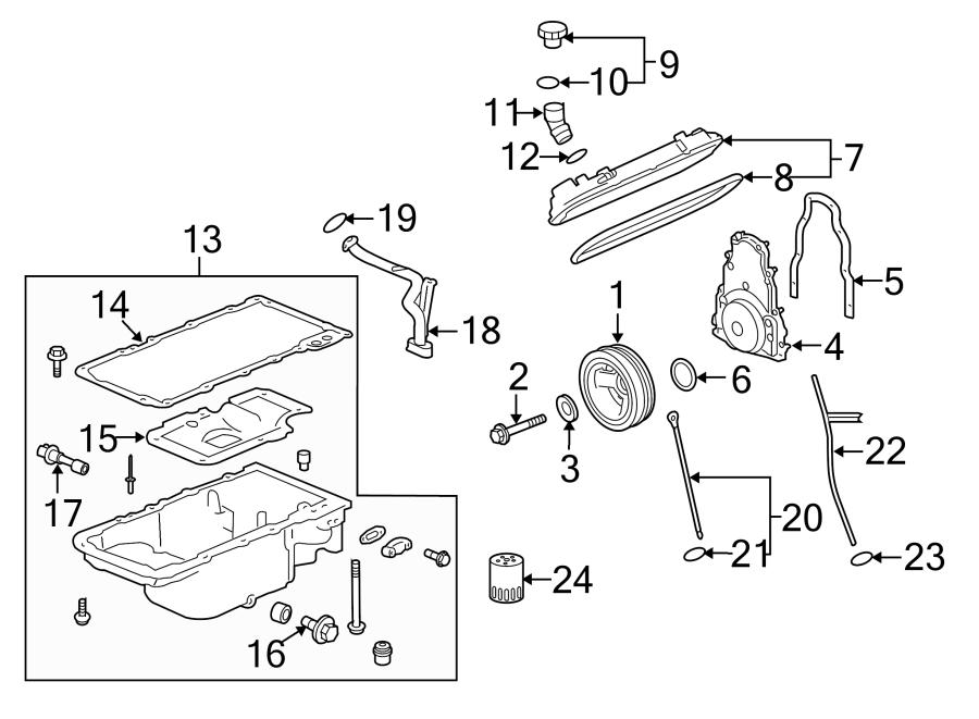 Chevrolet Caprice Gasket. Engine front cover. Cvroptional