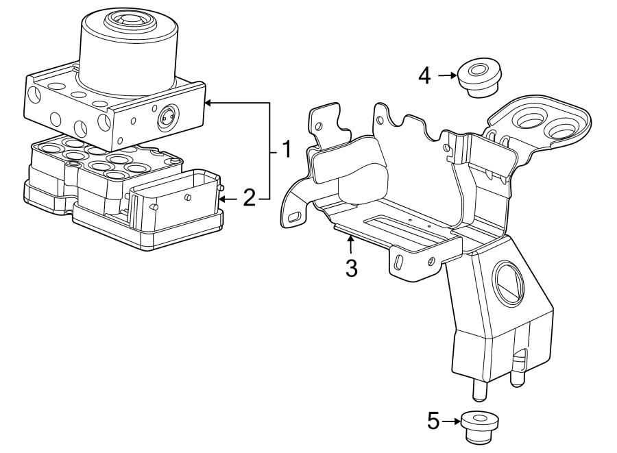 Chevrolet Cruze Module kit. Electronic brake control