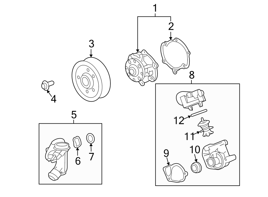 Chevrolet Camaro Seal. Radiator outlet. (lower). Seal, wat