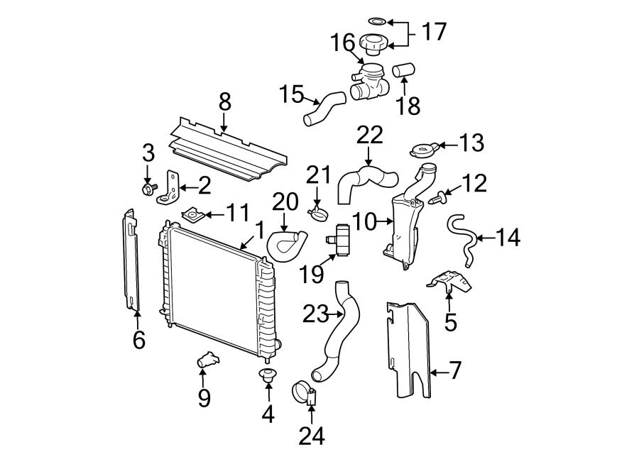 2007 Chevrolet HHR Engine Coolant Filler Neck. 2.0 LITER