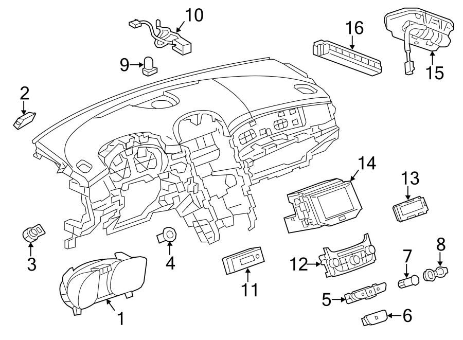 Chevrolet Malibu Cluster. Instrument panel gage. Cluster