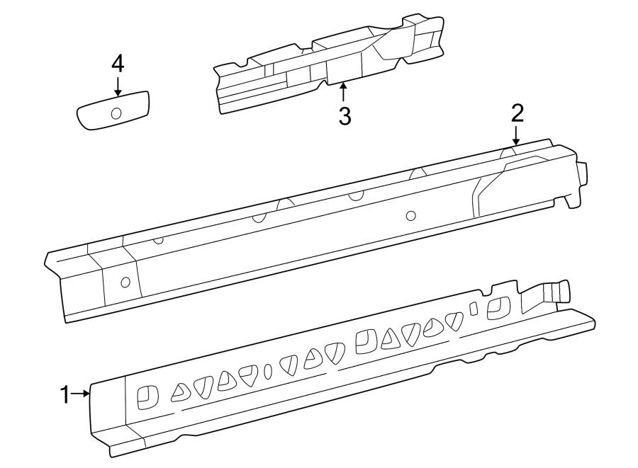 2001 Chevrolet Cavalier Rocker Panel Reinforcement. COUPE