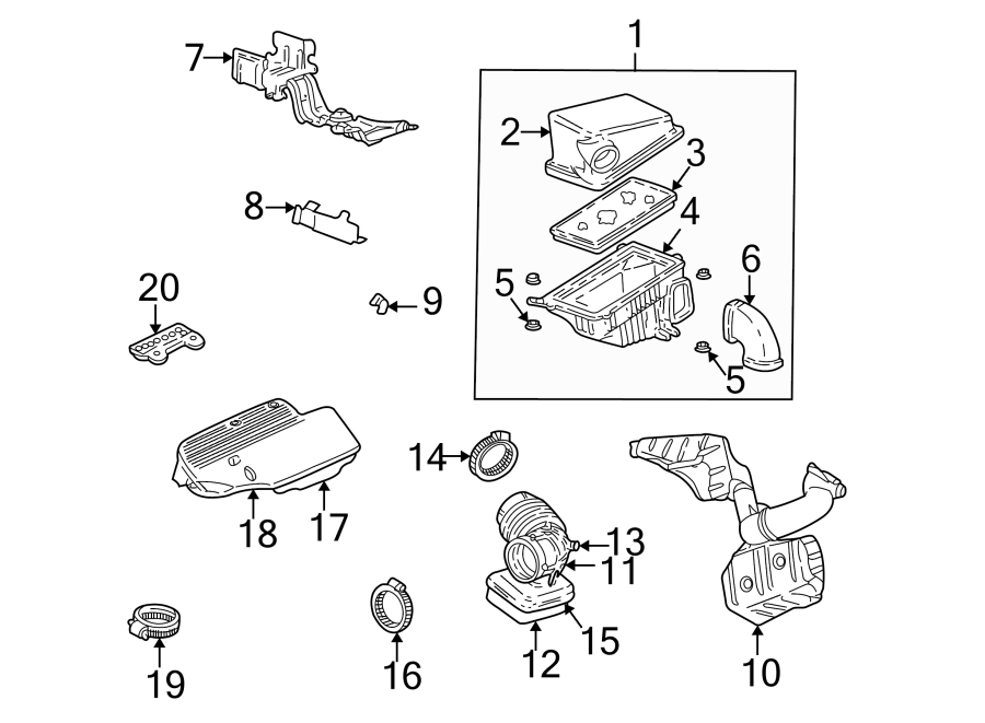 1998 Chevrolet Cavalier Seal. Resonator. Air. Intake