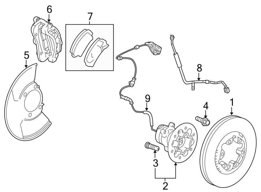 2008 Chevrolet HHR Bolt. Wheel. Bearing. 4WD. W/AWD. W/O