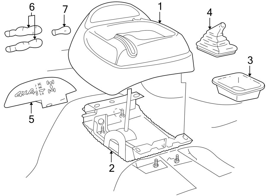 1996 Chevrolet S10 Indicator. 1994-97, transfer case. 1995