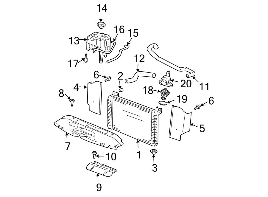 1998 GMC Forward Control Engine Coolant Thermostat