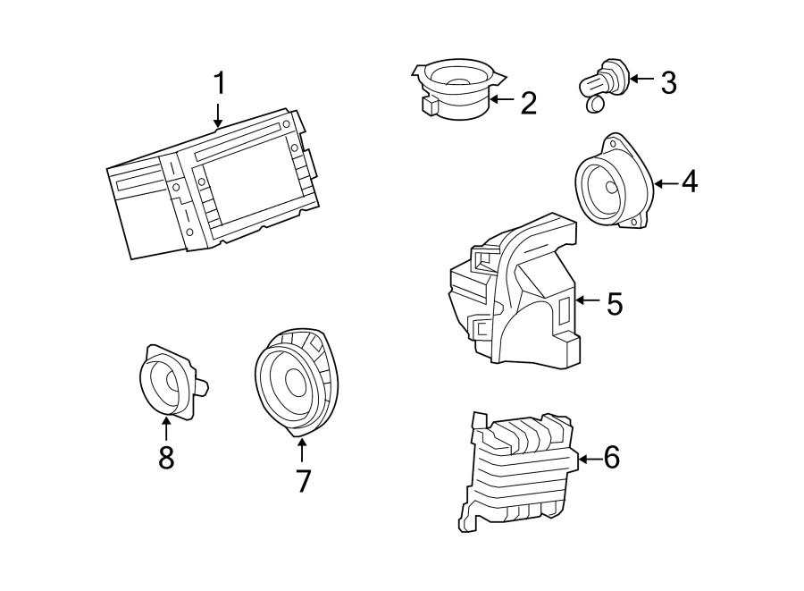 Chevrolet Traverse Amplifier. Radio receiver. Amplifier
