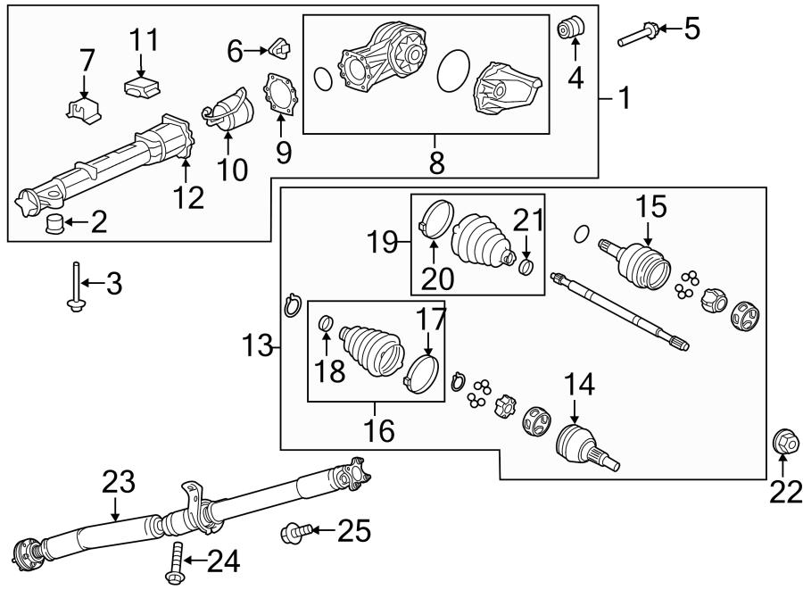 Chevrolet Traverse Tube. Propeller. Tube, driveline torq