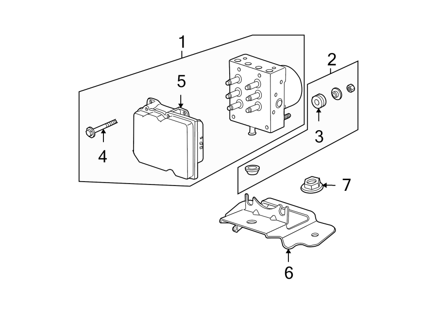 GMC ACADIA Module. Electronic brake control. Module, elek