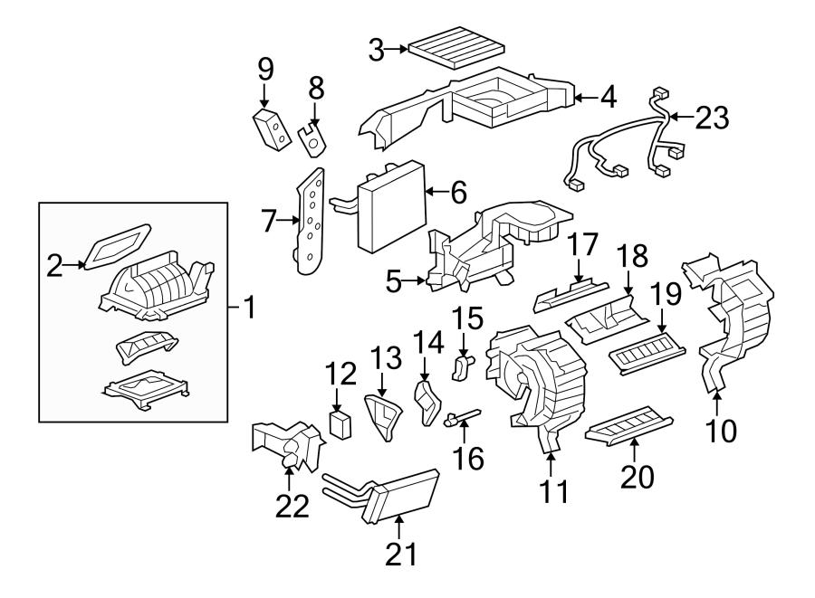 Chevrolet Equinox Heater Core Access Cover. 2006-09