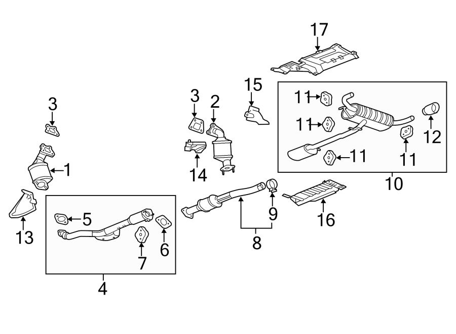 Chevrolet Equinox Gasket. Catalytic converter. Gasket