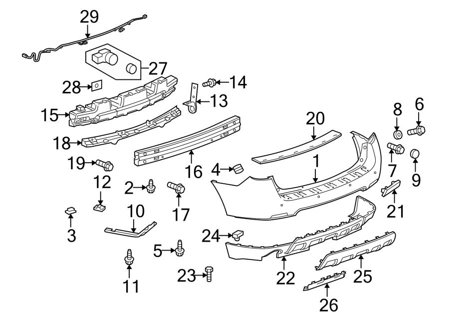 Chevrolet Equinox Sensor kit. Front and rear bumper/fascia
