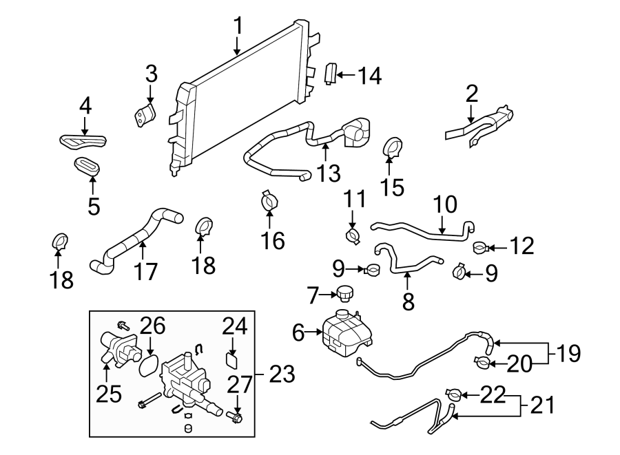 Chevrolet Cruze Radiator Hose Clamp (Front, Upper, Lower