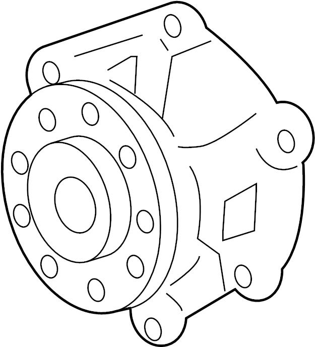 GMC ACADIA Pump kit. Engine coolant. Connectorpumppump