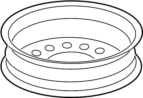 Chevrolet Malibu Wheel. Rear or spare. Wheel, 17x4 compact