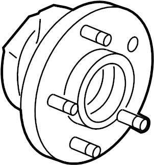 Chevrolet Equinox Bearing. Front wheel. Rear wheel. Hub