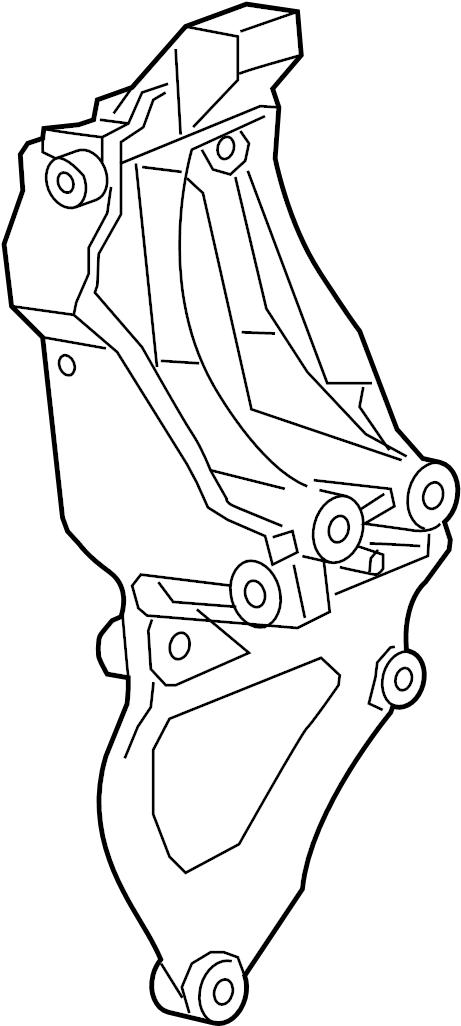 Chevrolet Malibu Bracket. Air conditioning (a/c