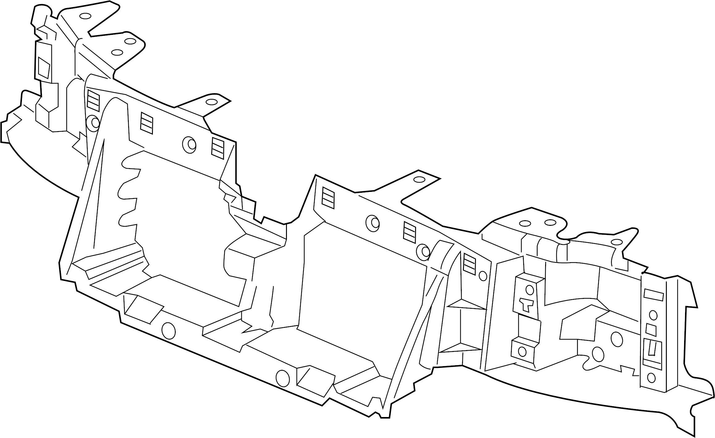 Buick RAINIER Radiator Support Panel (Front, Upper, Lower