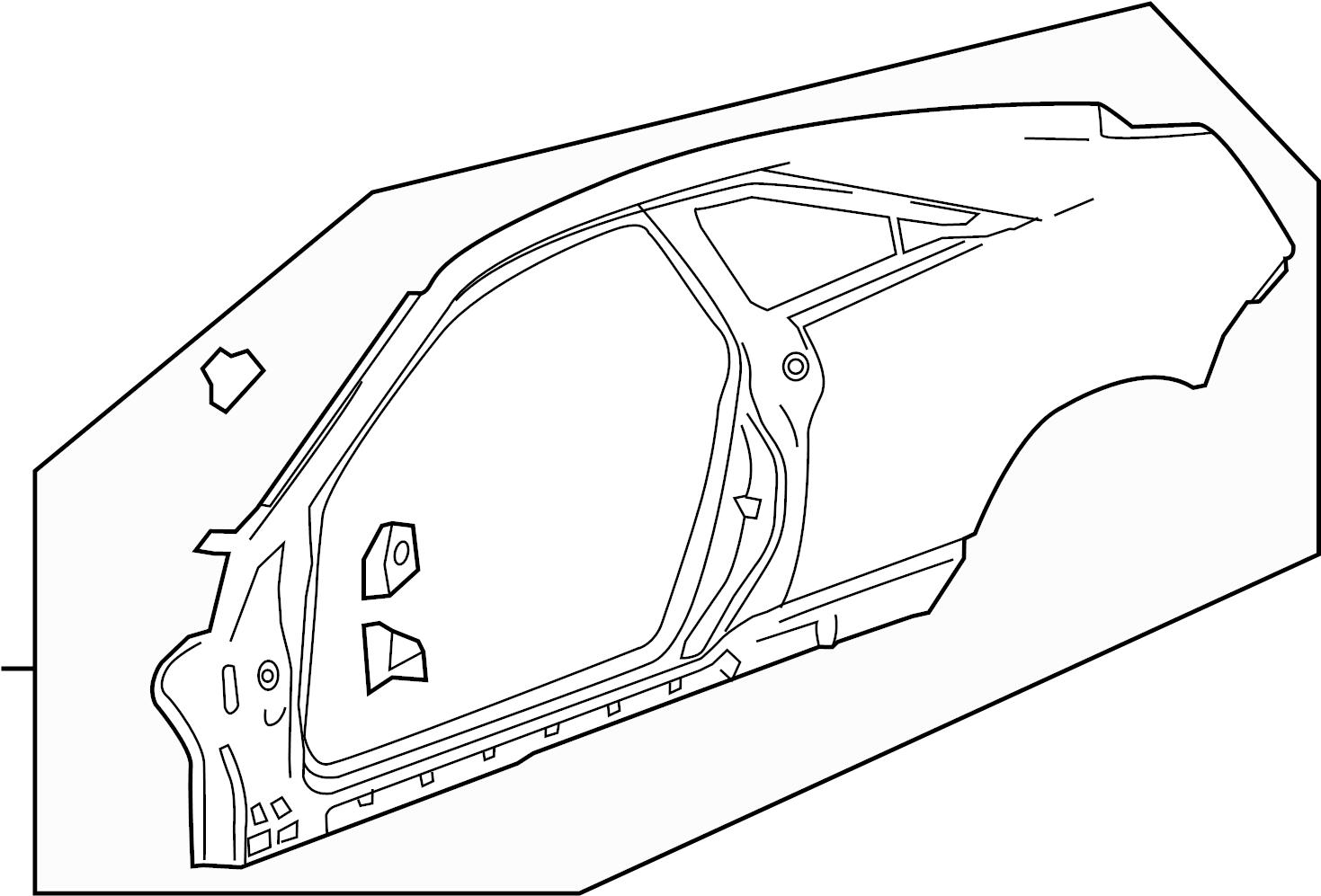 2011 Cadillac CTS V 2DR Frame. Rear quarter outer. Frame