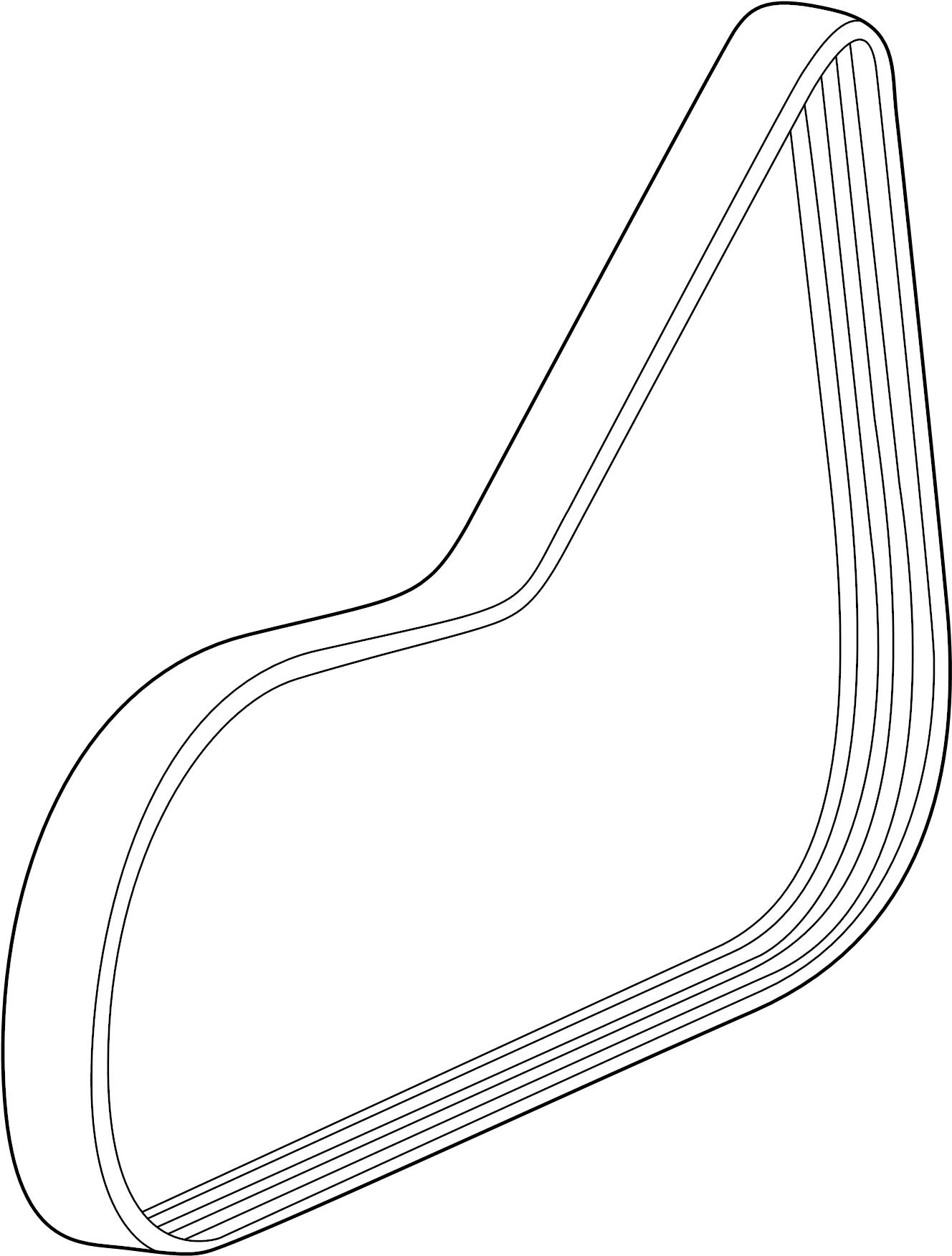 2015 Chevrolet Cruze Belt. Drive. Belt, w/pmp & a/c cmpr