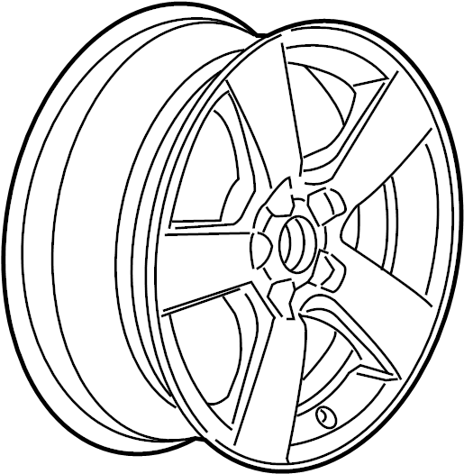 Chevrolet Cruze Wheel. Rear or spare. Wheel, 16x6.5(code