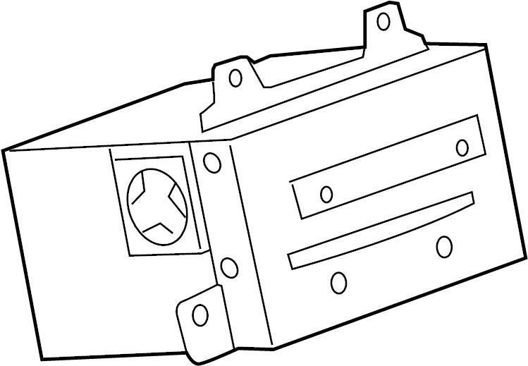 Chevrolet Camaro LT (1LT) 2DR Radio. Radio receiver. Radio