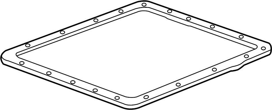 Chevrolet COLORADO Gasket. Engine oil pan. Transmission