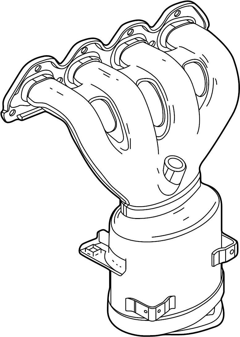 Chevrolet Cruze Manifold. Catalytic converter. Engine