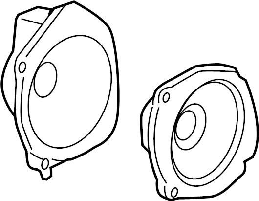 Chevrolet Cobalt Speaker (Front). 2005-08, w/enhanced