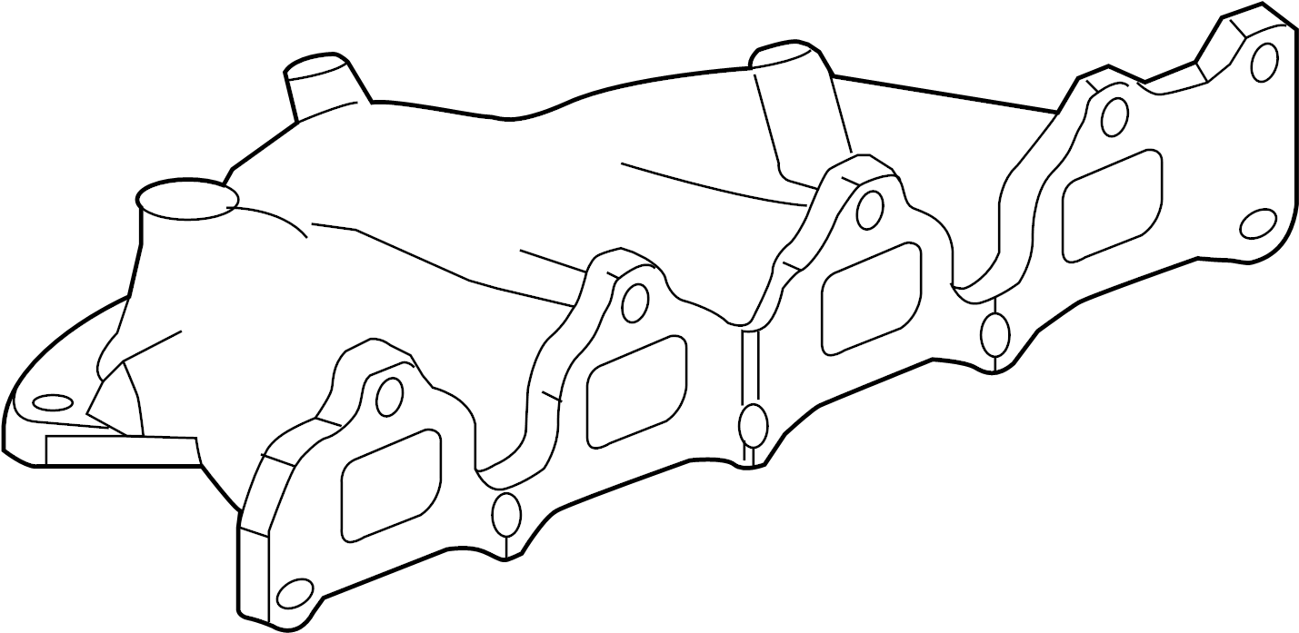 2010 Chevrolet Equinox Manifold. Engine exhaust manifold