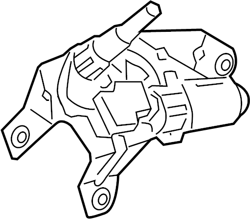Chevrolet Equinox Motor. Rear window wiper. Motor, r/wdo