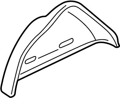 Pontiac MONTANA MPV EXT BASE Panel. Fuel door & body side