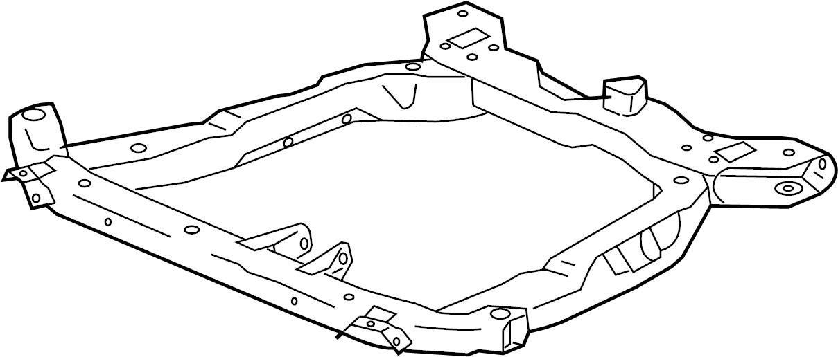 Saturn Ion Frame. Chassis. Frame, drivetrain & frt susp