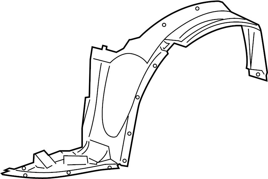 Pontiac G6 Shield. Front fender inner wheel house. Shield