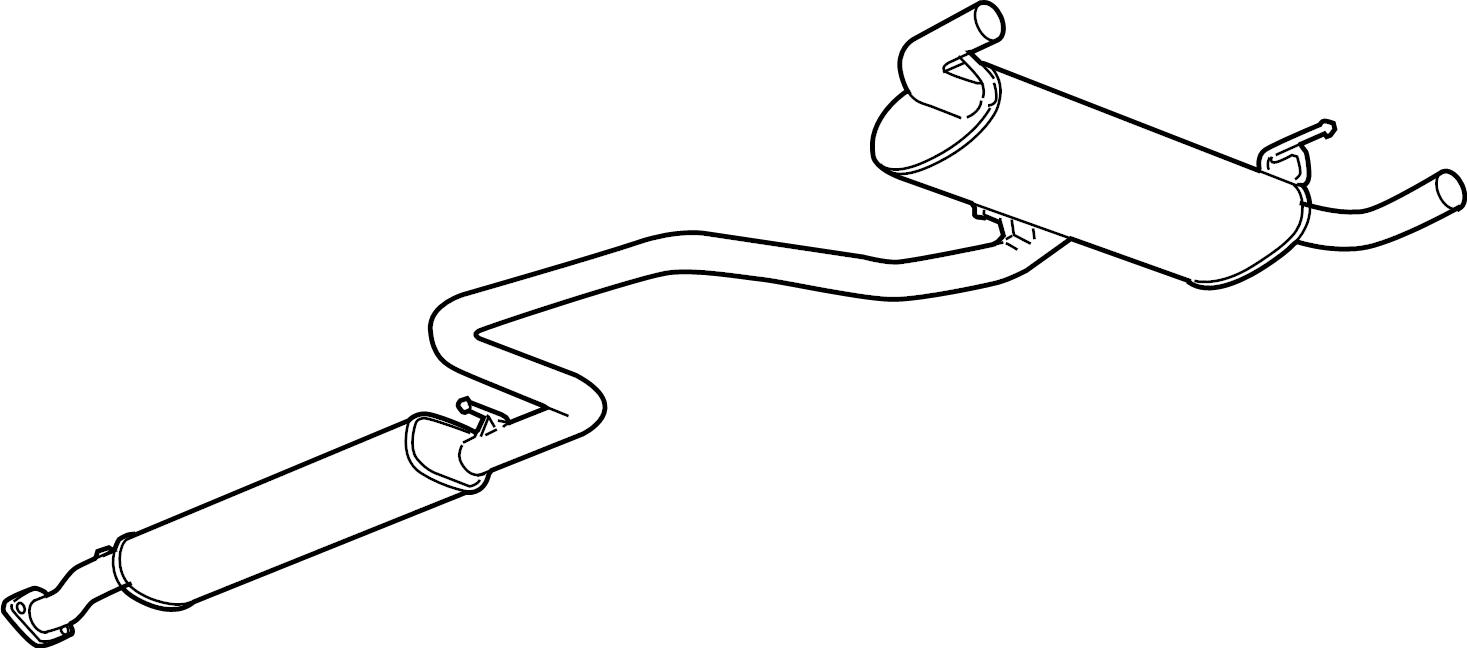 Pontiac G6 Muffler. Exhaust. Muffler, exh(w/exh pipe