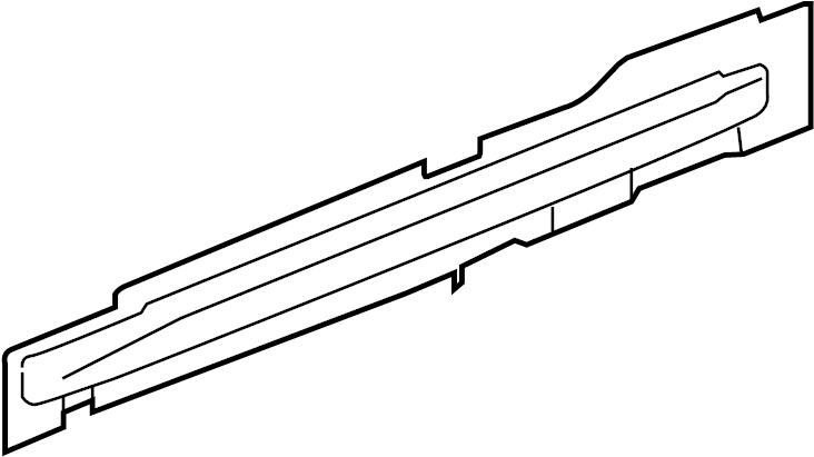 Pontiac G6 Reinforcement. Door opening rocker panel