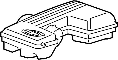 Chevrolet COLORADO Resonator. Air cleaner intake